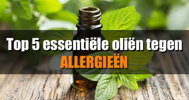 Top 5 essentiële oliën tegen allergieën